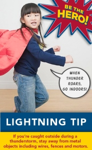 Lightning safety tip